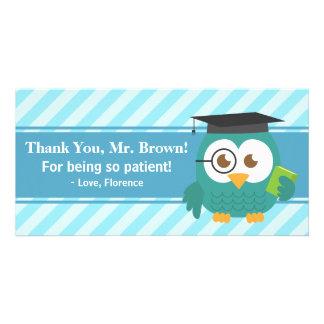 Thank You Teacher, Teacher Owl, Patience Photo Card Template