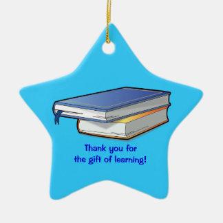 Thank You Teacher's Gift Ceramic Ornament