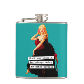 Thank You Tequila Being My Dance Partner Hip Flask