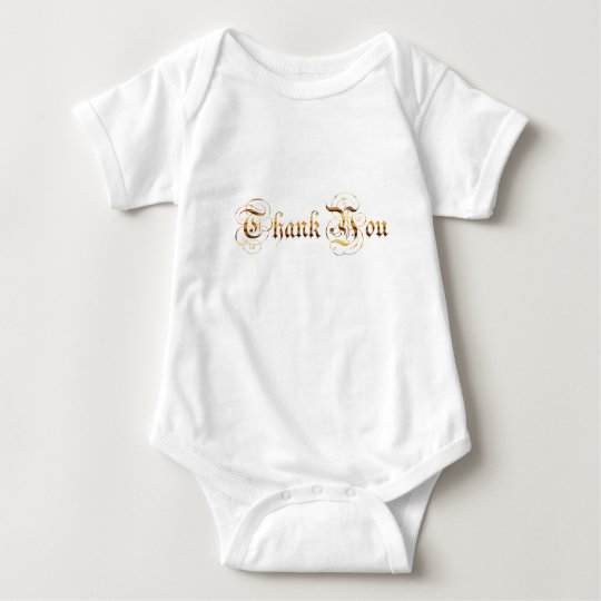 Thank you.text. baby bodysuit