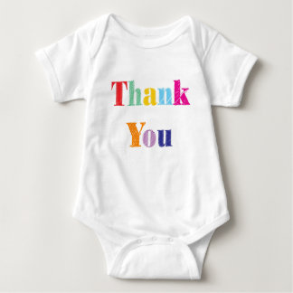 Thank You Text Baby Bodysuit