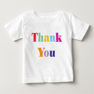 Thank You Text Baby T-Shirt