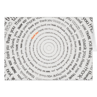 Thank You Text Circles Card