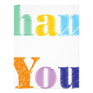Thank You Text Letterhead
