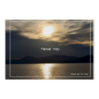 'Thank You' Text Photo Glossy Poster