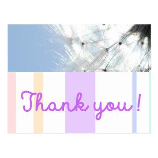 Thank you! Thank-beautifully breath flower Postcard