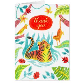 thank you tiger card