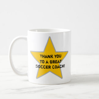 thank you to a great soccer coach coffee mug