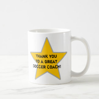 thank you to a great soccer coach coffee mugs