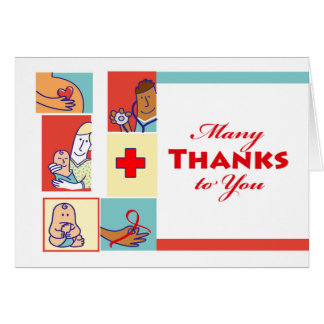 Thank You to a Nurse, Nurses and Their Patients Card