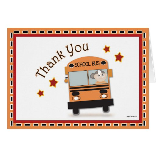 Fan image inside bus driver thank you card printable