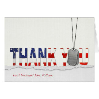 Thank You to military Card