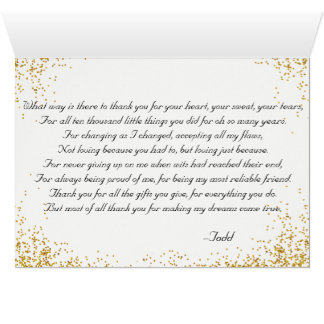 Thank you to mother of the groom card