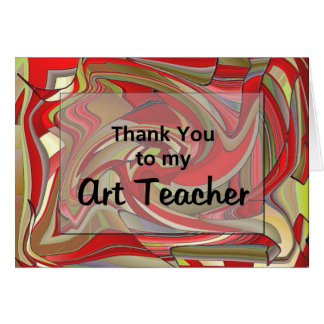 Thank You To My Art Teacher Card