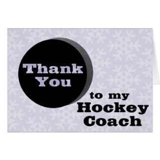 Thank You To My Hockey Coach Greeting Card