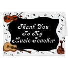 Thank You To My Music Teacher