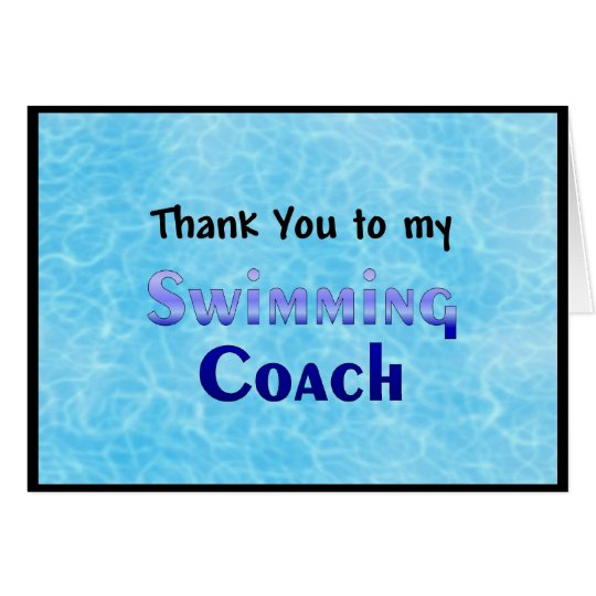 Thank You To My Swimming Coach Card