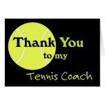 Thank You to my Tennis Coach Card