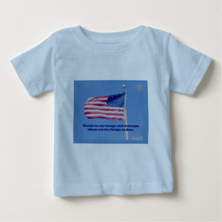 Thank You Troops American Flag Tee Shirt