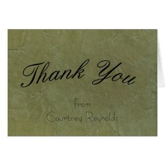 Thank You Tuscan Green Greeting Card 2.0