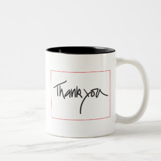 Thank you Two-Tone coffee mug