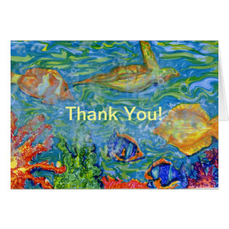 Thank You Under Sea Fantasy art Card