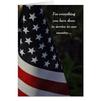 Thank You Veteran on Veteran's Day Flag Card