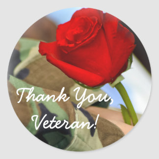 Thank You Veteran Sticker