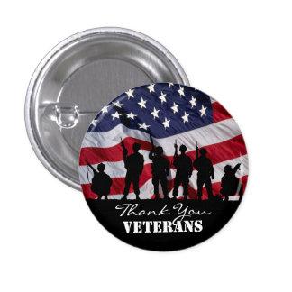 Thank You Veterans 1 Inch Round Button