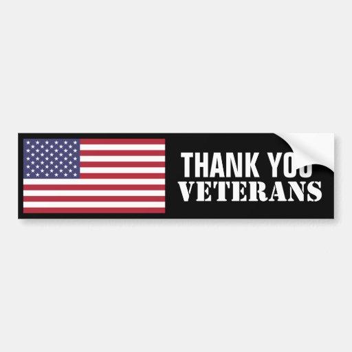 Thank You Veterans Bumper Stickers