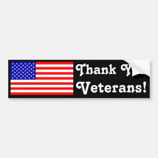 Thank You Veterans! Bumper Stickers