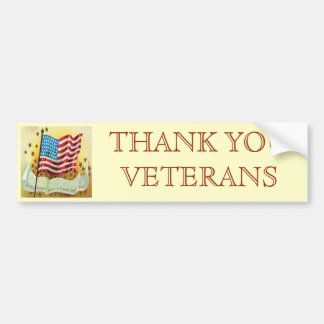 THANK YOU VETERANS BUMPER STICKER