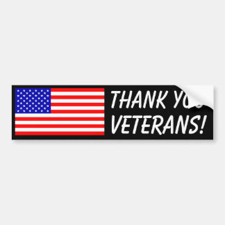 Thank You Veterans! Bumper Sticker