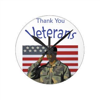 Thank You Veterans Clock