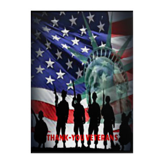 Thank-you Veterans For Your Service To Our Country Acrylic Print
