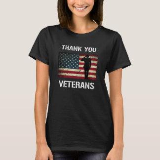 Thank you Veterans Military Salute US Flag Shirt