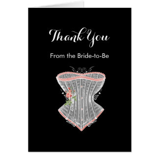 Thank You Vintage Corset Personal Bridal Shower Card