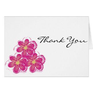 Thank You Vintage Flowers Art Card