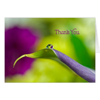 Thank You-water droplet reflection Card