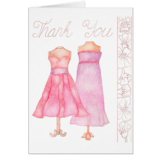 Thank You watercolour greeting card