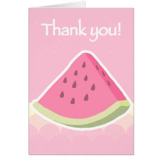 Thank You Watermelon Slice Card