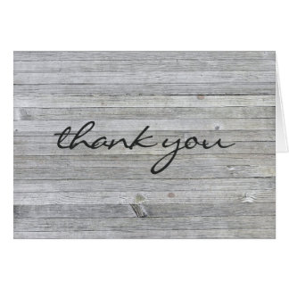 thank you-weathered gray wood card