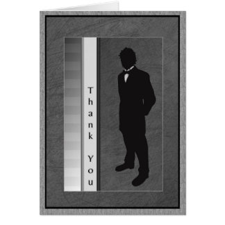 Thank You Wedding Attendant Groom Card