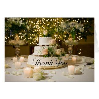 Thank You--Wedding Cake Card