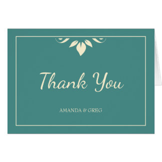 Thank You Wedding Card With Thin Border
