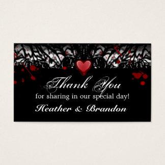Thank You Wedding Cards Halloween Blood Splatter