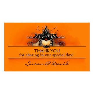 Thank You Wedding Cards - Halloween Love Business Card