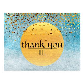 Thank You Wedding Confetti Glitter Sky Moon Postcard