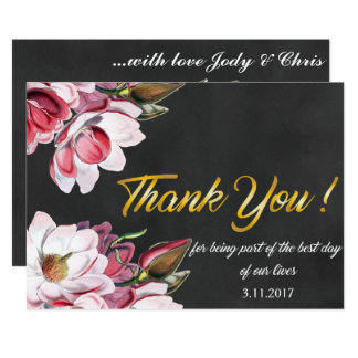 Thank you wedding day card