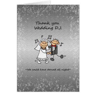 Thank you Wedding Dj Music Card